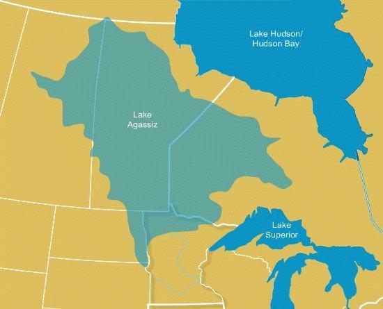 Diagram of Glacial Lake Agassiz