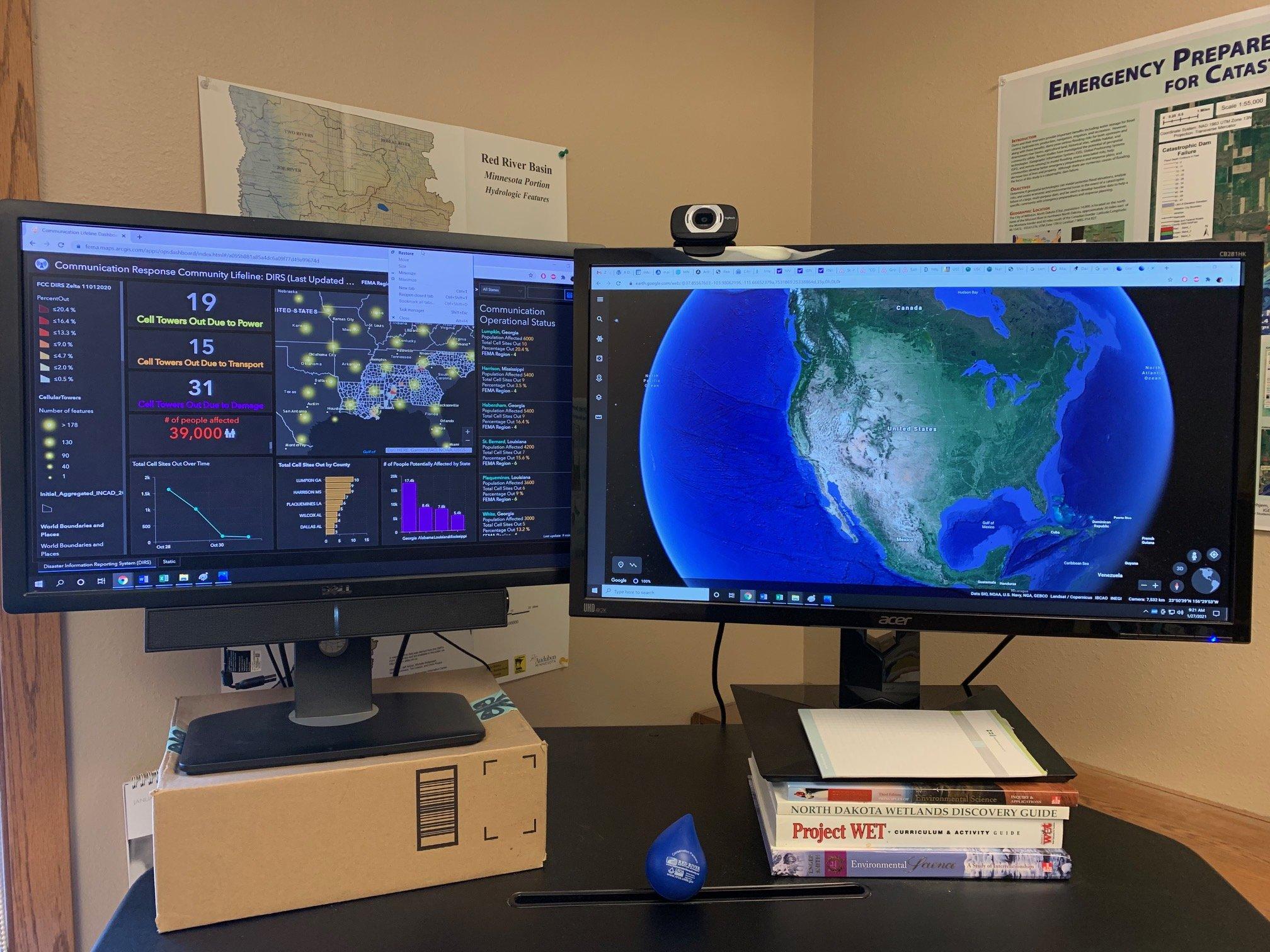 Grit's main monitor set up